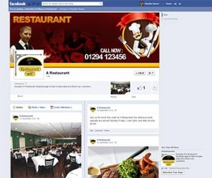 Example Facebook page for a restaurant.