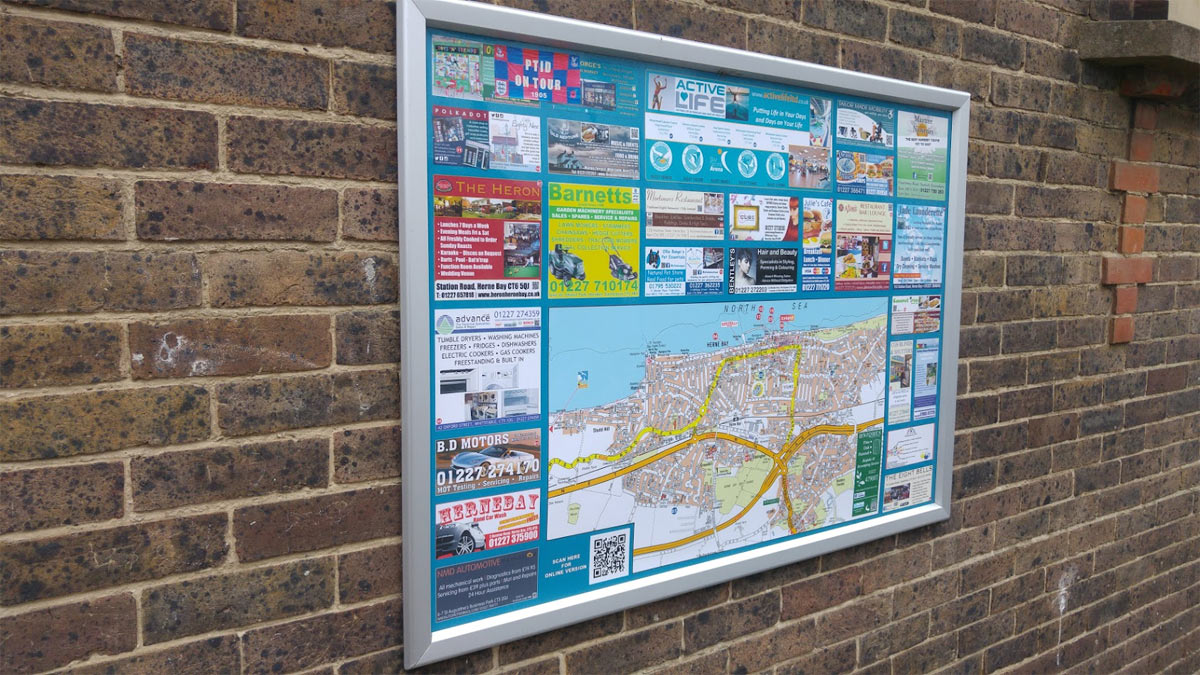 Herne Bay map outside Iceland