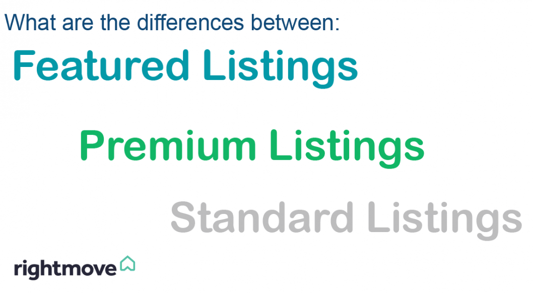 Rightmove Listing types